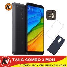 Xiaomi Redmi 5 Plus 64GB Ram 4GB Kim Nhung (Đen) – Hàng nhập khẩu + ốp lưng silicon + Cường lực + Tai nghe