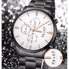 Đồng hồ nam BOSEI BAS1984 dây thép không gỉ cao cấp ( Mặt trắng )