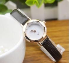 Đồng hồ nữ cao cấp Squart 202 (Dây Đen, Mặt Trắng)