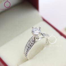Nhẫn bạc nữ đính đá tinh tế NN0165 – Trang Sức Trường An