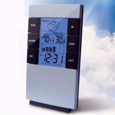 Đồng hồ thông minh để bàn Đa chức năng MÀN HÌNH LCD Màu Nhiệt Độ Ẩm Kế Thời Tiết kiêm Đồng Hồ Báo thức 3210