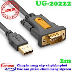 Cáp USB 2.0 to COM DB9 RS232 dài 2M UGREEN 20222