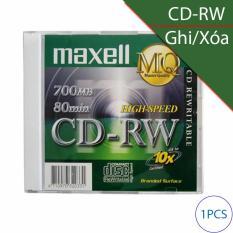 Đĩa trắng CD-RW (ghi và xóa nhiều lần) 700Mbps 80min 4x-10x MAXELL (1 chiếc)