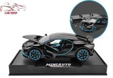 Xe mô hình sắt siêu xe Bugatti Chiron tỉ lệ 1:32 màu đen xanh