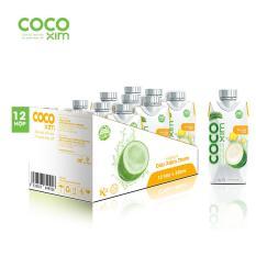 Thùng 12 hộp nước dừa Cocoxim vị thơm 330ml