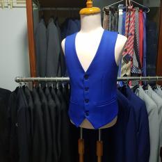 Áo gile nam màu xanh coban ôm body