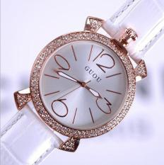 Đồng hồ Guou nữ tròn đính đá (màu hồng, trắng )