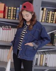 Áo Khoác Jeans Nữ 4 Túi Cao Cấp OHS523