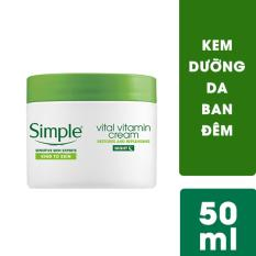 Kem dưỡng da ban đêm Simple Vital Vitamin Night 50ml