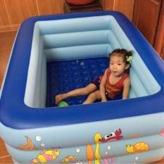 Bể bơi phao chữ nhật 3 tầng 1m5 cho bé