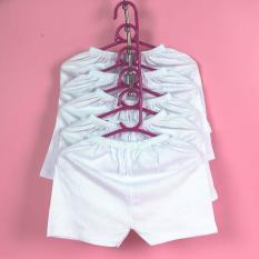 Set 10 quần đùi trắng bosini cho bé từ 0-12 tháng