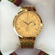 Đồng hồ nam Baishuns chất liệu thép không rỉ mạ vàng cao cấp