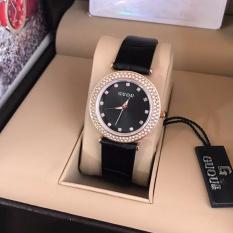 Đồng hồ dây da nữ GUOU (đen)