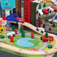 Bộ đồ chơi ghép mô hình thành phố bằng gỗ cho bé phát triển sáng tạo
