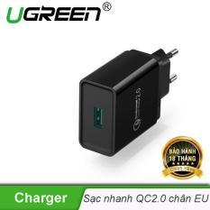 Sạc nhanh Quick Charge 2.0 chuẩn chân cắm kiểu Châu âu (EU) UGREEN CD122 20699 – Hãng phân phối chính thức