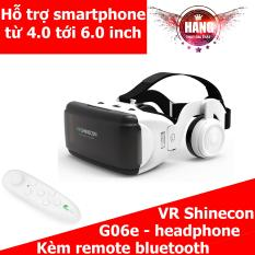 Kính 3D VR Shinecon G06e có headphone + Remote bluetooth VR Park