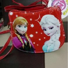 Túi xách tay kết hợp đeo vai chéo hình Elsa Anna Bé Gái