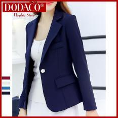 [Ship Ko Tăng Khi Mua 1-3 SP] – Áo vest nữ áo khoác nữ DODACO DDC1908 – RRR96 (Xanh lam)