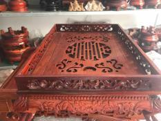 Khay trà gỗ ( khay rồng )