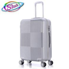 vali nhựa kéo 20inch vuông caro Shalla (đen,hồng,đỏ đô,vàng đồng,xanh đen,xám kem)