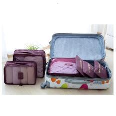 Bộ 6 túi đựng quần áo du lịch gấp gọn chống thấm