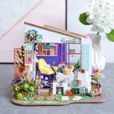 Mô hình nhà gỗ nhà búp bê Nhà mặt tiền Lily Robotime DiyMiniture