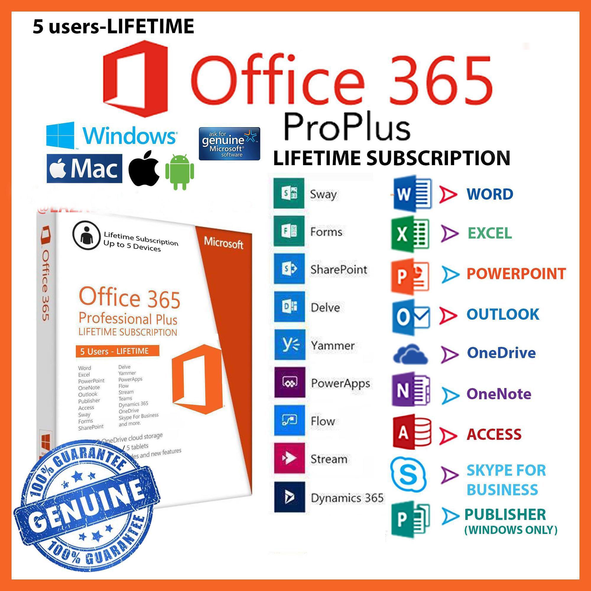 Office 365 phiên bản 2016 Pro Plus sử dụng cho 5 thiết bị Đang Bán Tại uytinchatluong