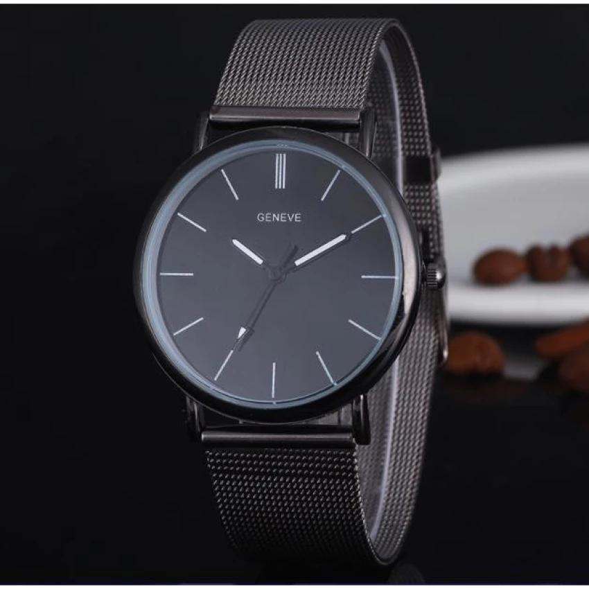 Nên mua Đồng hồ nam dây thép hiện đại (Đen) ở Phúc Gia Hưng