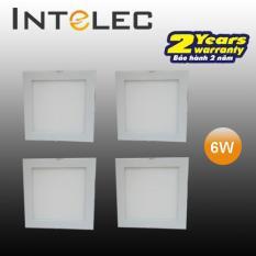 Bộ 4 đèn led âm trần (downlight) vuông INTELEC 6w