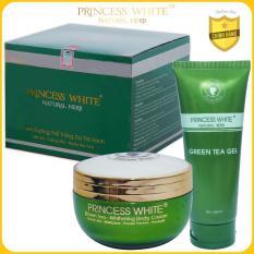 Bộ dưỡng trắng Body Trà Xanh Green Tea Princess White – Bí quyết dưỡng da trắng hồng, mịn mướt, căng tràn sức sống/200G