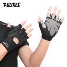 Bộ đôi găng tay nửa ngón tập thể dục thể thao Aolikes AL113 (1 đôi)