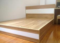 Giường Ngủ TN02 MDF Melamine vân gỗ chống trầy xước Đẹp Bền Hiện Đại Sang Trọng giá tốt