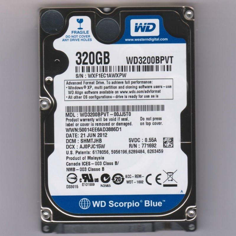 Đánh giá Ổ cứng laptop WD 320GB 2.5 inch (hàng tháo máy bộ ) Tại Nam Dũng PC