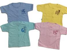 Combo 5 áo sơ sinh màu tay ngắn Thái Hà Thịnh
