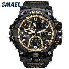 Smael nam thương hiệu hàng đầu luxury sốc không thấm nước thời trang quartz watch men casual quân đội thể thao đồng hồ kỹ thuật số 1545c