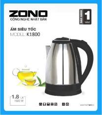 Ấm đun siêu tốc ZONO K-1800 Inox (1,8 lít) – HÃNG PHÂN PHỐI CHÍNH THỨC