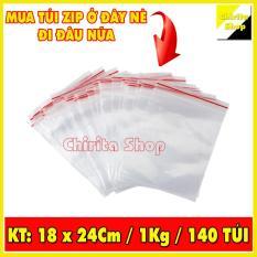1KG Túi Zip sọc đỏ – Túi zipper đựng thực phẩm chất lượng LOẠI 1 – Size 18x24cm – Chirita Shop
