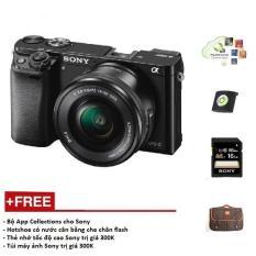 Máy ảnh Sony Alpha A6000 + Kit 16-50mm – Màu Đen – Tặng thẻ nhớ + Túi + Gói cài app + Nắp Hotshoe