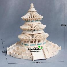 Đồ chơi lắp ráp gỗ 3D Mô hình Tháp Thiên Đường