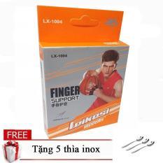 Băng bảo vệ ngón tay tập gym cao cấp Leikesi LX-1004 tặng 3 thìa inox cao cấp