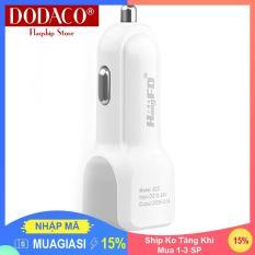 [Ship Ko Tăng Khi Mua 1-3 SP] – Đầu sạc điện thoại trên ô tô 2.1A 2 cổng USB DODACO DDC2063 (Nhiều màu)