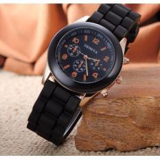 Đồng hồ nữ dây silicon Geneva Khởi My giá rẻ (Dây Đen, Mặt Đen)