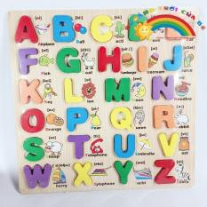 Bảng gỗ Chữ cái Song ngữ Mô tả 3D KA132