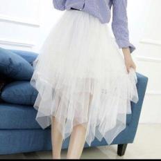 Chân váy tutu tua rua tiểu thư siêu đáng yêu, ren cao cấp, lưng thun freesize không kén dáng
