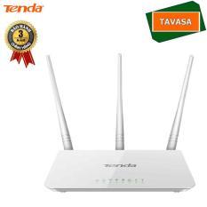 Thiết bị phát sóng WIFI 3 anten tốc độ 300M TENDA F3 (Trắng) – Hãng phân phối chính thức