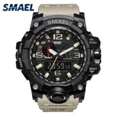 Đồng hồ nam thể thao chống nước tuyệt đối dây cao su cao cấp Smael DA01