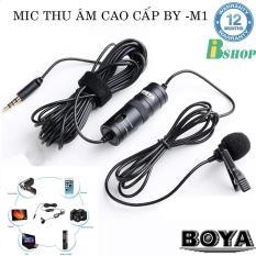 Micro thu âm đa năng Boya BY-M1 dùng cho cho điện thoại, máy ảnh DSLR, action camera, kết hợp đa năng với gimbal, BH 12 tháng