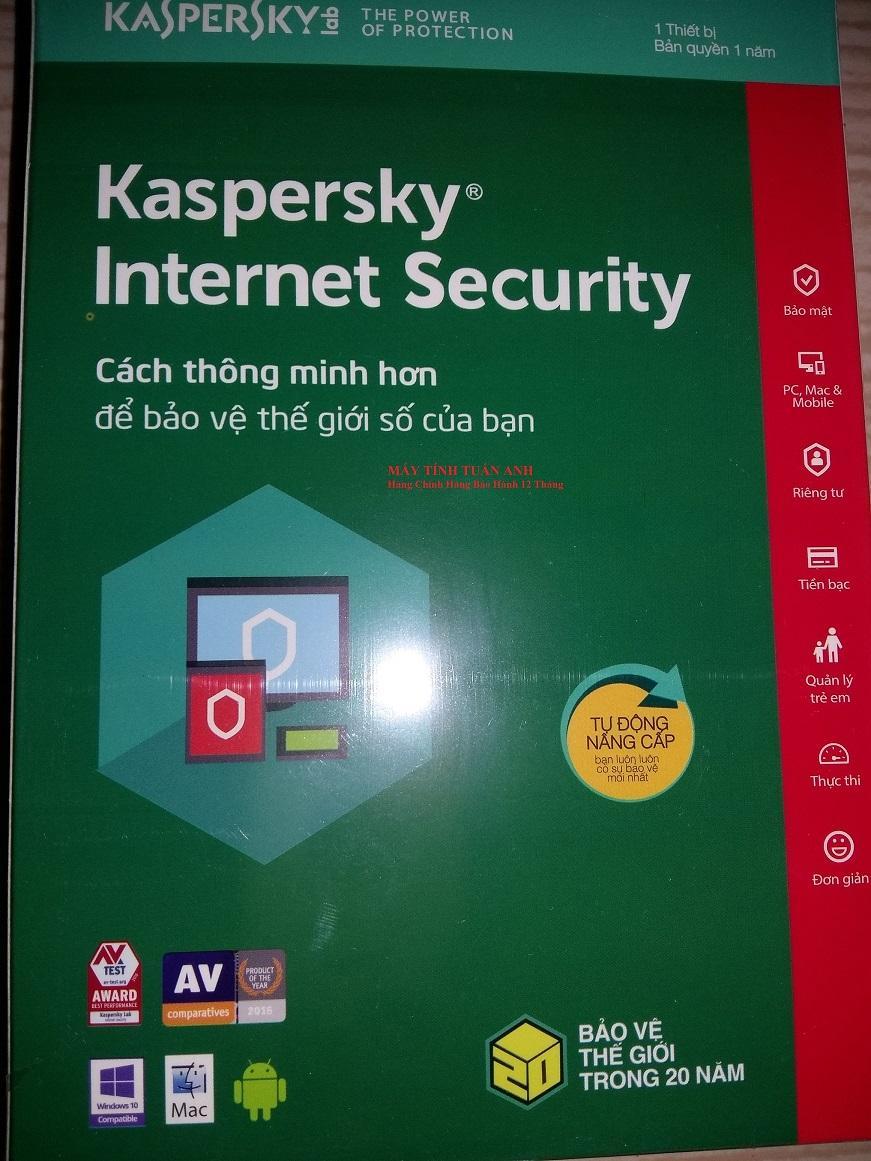 So sánh giá Phần mềm diệt virut Kaspersky Internet Security Tại Shop điện tử nhật minh