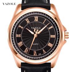 (Cập nhật 2019)Đồng hồ nam thời trang dây da cao cấp Yazole Q07