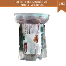 Hạt óc chó Jumbo (Loại lựa, size đại) còn vỏ Hartley California 500gr